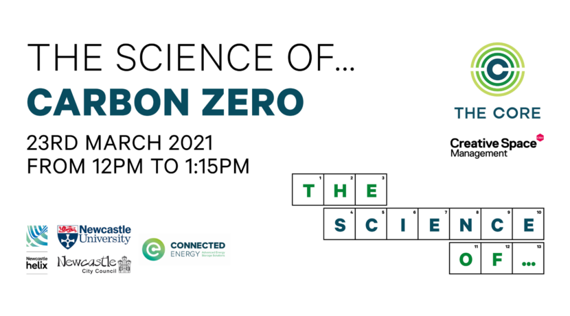 The Science of… Carbon Zero: Tuesday 23rd 2021, 12pm to 1:15pm via Zoom